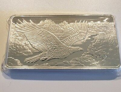 Republic Metals Soaring Eagle 10 oz Silver Bar | In Original Mint Packaging