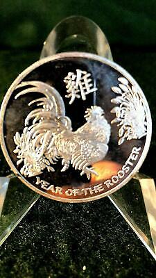 2017 Chinese Lunar Calendar Year Of The Rooster 1 oz .999 Silver Round Coin