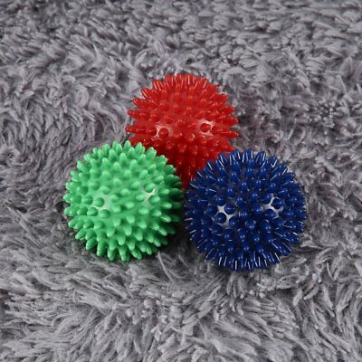 7CM Yoga Massage Ball Spikey Gym Balls Spiky Trigger Therapy Stress Relief 1 EL