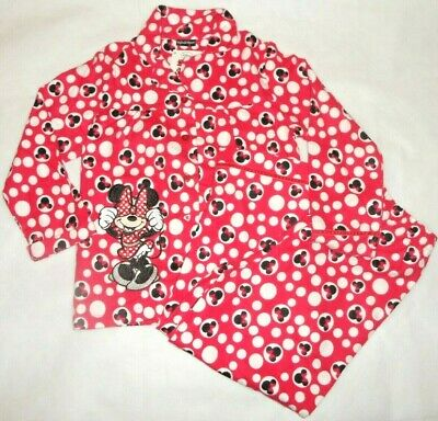 Minnie Mouse Polka Dot Top & Bottoms Set Pyjamas 100% Cotton Night 6 - 7 Years