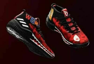 A BATHING APE BAPE x Adidas DAME 4 Red Camo Limited Rare 28.0cm NEW AP9976 9623c3b33