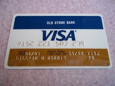 Vintage 1981 Visa Charge Card Old Stone Bank