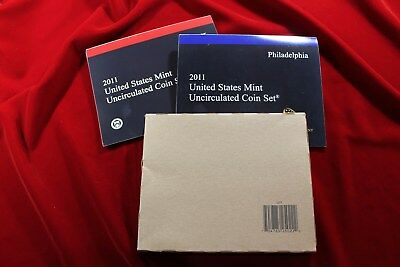 2011 United States Mint Uncirculated Coin Set, 28 Coins, P & D Mint Coins