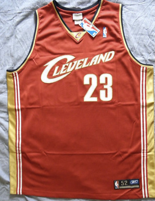 NEW NBA Jersey / Maillot CLEVELAND CAVALIERS LEBRON JAMES ROOKIE REEBOK SIZE 52