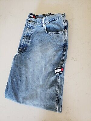 2f4f11280 Vintage 90s Tommy Hilfiger Carpenter Jeans Tommy Flag 36x30 great condition!