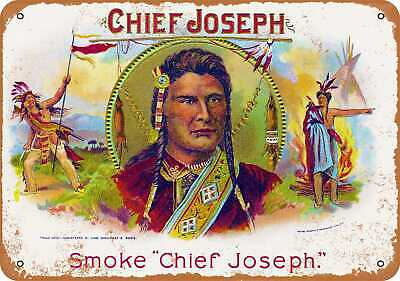 Metal Sign - Chief Joseph Cigars - Vintage Look Reproduction