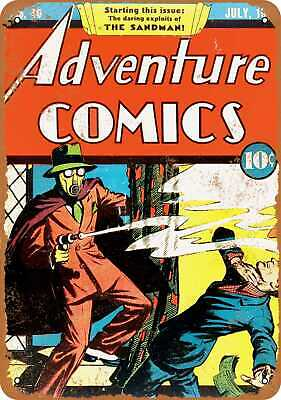 Metal Sign - Adventure Comics #40 - Vintage Look Reproduction