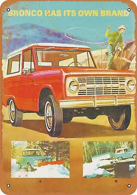 Metal Sign - 1967 Ford Bronco - Vintage Look Reproduction