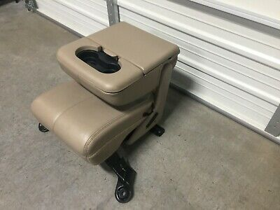 Ford Super Duty Excursion Jump Seat Center Console F250 F350 F450 Tan Leather