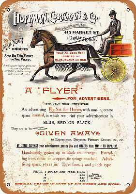 Metal Sign - Put Your Ad on a Horse - Vintage Look Reproduction