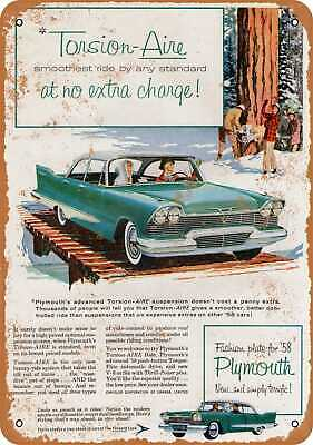 Metal Sign - 1958 Plymouth - Vintage Look Reproduction
