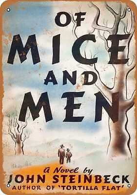 Metal Sign - 1937 Of Mice and Men First Edition - Vintage Look Reproduction