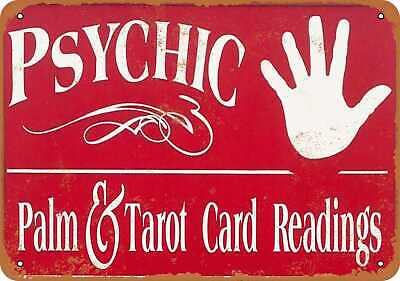 METAL SIGN - Psychic Fortunes Destiny Luck Fate - Vintage