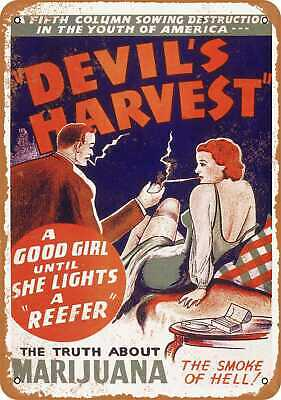 Metal Sign - 1942 Marijuana Devil's Harvest - Vintage Look Reproduction
