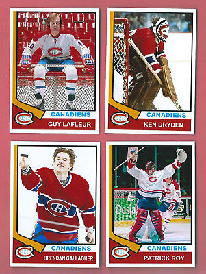 MONTREAL CANADIENS 1974-75 High Grade Hockey Card Style Fridge Magnet U-Pick