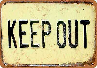 Metal Sign - Keep Out - Vintage Look Reproduction