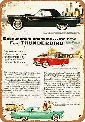 Vintage Look Reproduction 3 1965 Ford Thunderbird Metal Sign