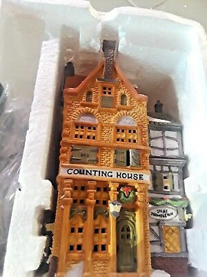 """Dept 56 Dickens' Village 1988 """"COUNTING HOUSE & SILAS"""" MIB D10"""