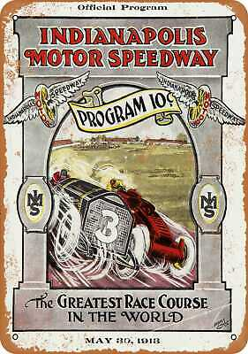 Metal Sign - 1913 Indianapolis Motor Speedway - Vintage Look Reproduction