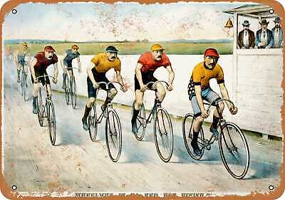 Metal Sign - 1894 Bicycle Race - Vintage Look Reproduction