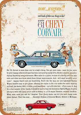 Metal Sign - 1961 Chevrolet Corvair - Vintage Look Reproduction