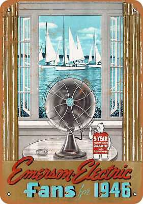 Metal Sign - 1946 Emerson Electric Fans - Vintage Look Reproduction