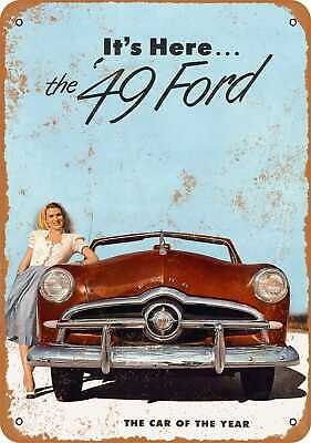 """1949 Mercury Ford Vintage Automobile Ad 10/"""" x 7/"""" Reproduction Metal Sign A313"""
