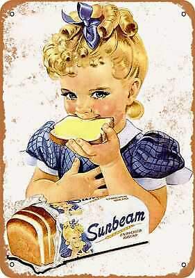 Sunbeam Bread Children at Play Slow Advertising Metal Repro Sign 9x12 60090