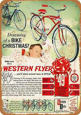 Metal Sign - 1960 Western Flyer Bicycles - Vintage Look Reproduction