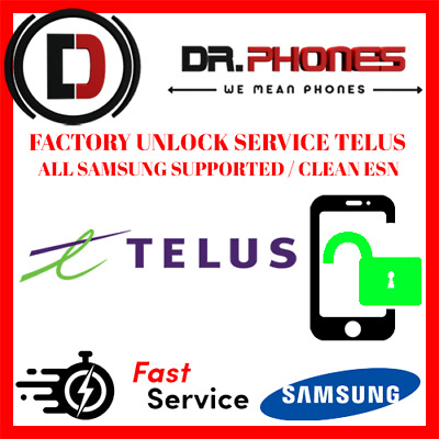 Factory Telus Unlock Service For Telus Canada Samsung All Models Clean Unlock