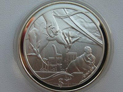 LORD OF THE RINGS SILVER COIN 2003 NEW ZEALAND (Frodo offering ring to Nazgul)
