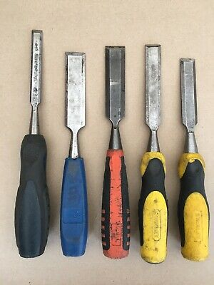 Bevelled Edged Chisels x5 Stanley Bahco Draper