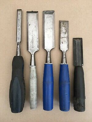 Bevelled Edged Chisels x5