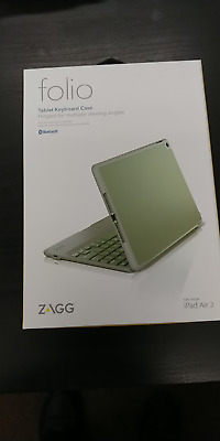 innovative design d0efd 1f62d NEW ZAGG FOLIO Case Hinged with Bluetooth Keyboard For iPad Air 2