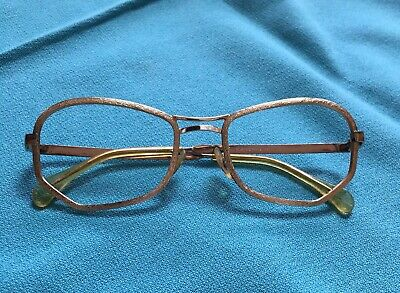 Vintage B&L Bausch Lomb Eye Glasses, Gold Metal Frame. W Germany