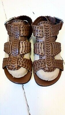 acead615acf8 Allsaints Womens Brown Leather Gladiator Sandals Size 5 (38)