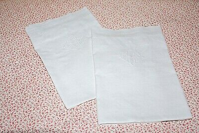 20th Century pair of continental square pillowcases