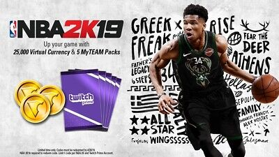 NBA 2K19 - Twitch Prime Pack DLC Code PS4 XBOX ONE SWITCH PC STEAM
