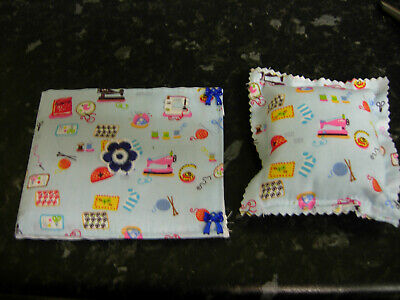 Needle case/hold with matching pin cushion sewing craft hobby handmade NEW