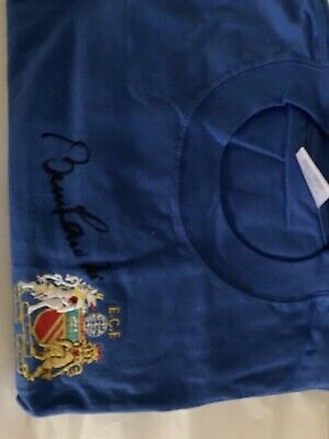 SIR BOBBY CHARLTON Manchester United Blue 68 Shirt Hand Signed Inc COA £95