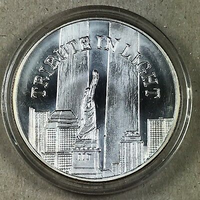 Vintage Silver One Ounce Round 1 One Troy Ounce .999 Fine Silver - 9/11 Tribute