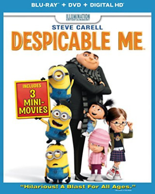 Despicable Me (Blu-ray+DVD+Digital Copy UltraViolet 2013) NEW w/ Slipcover