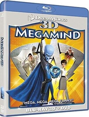 Dream Works Megamind ( Blu-ray 3D /DVD, 2011, 2-Disc Set, ) New Animated