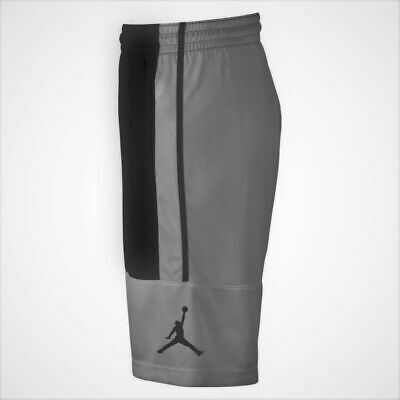 Nike Air Jordan Dri-Fit Basketball Shorts Gray Black AR2833-018 NWT