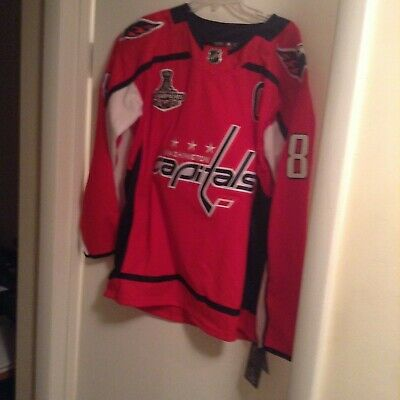 63712e106 Washington Capitals Alex Ovechkin 2018 Stanley Cup Champions jersey NWT SZ.  54