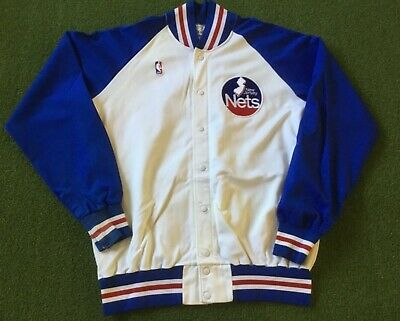 brand new fc7fc 8d63a 1980'S NEW JERSEY Nets Game Used Worn Sand-knit Warm Up ...