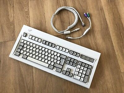 IBM MODEL M White Logo Swiss Layout 1391412 Buckling Spring Keyboard -  Screw Mod