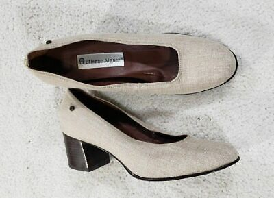 fd3f784ed2 ETIENNE AIGNER PALOMA Slip on Classic Leather Heels Woman s Size 8 N -   26.33