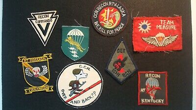 LOT OF (8) VIETNAM Military Patches - Home Made - Rare - RECON - CCN -  KENTUCKY