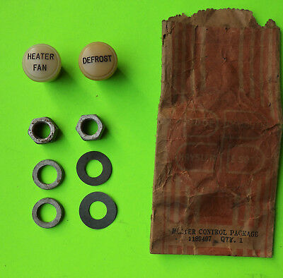 1946 1947 1948 Plymouth P15 Heater Control Knob Package NOS OEM part # 1189497
